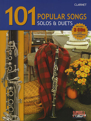 101 Popular Songs Solos & Duets for Clarinet Sheet Music Book with CDs