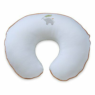 Boppy Pillow Slipcover Organic Elephant Gray Nursing Breastfeeding Baby Gift NEW