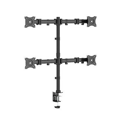 Quad Monitor Swivel arm Table Mount Screen Stand 4 x 8KG