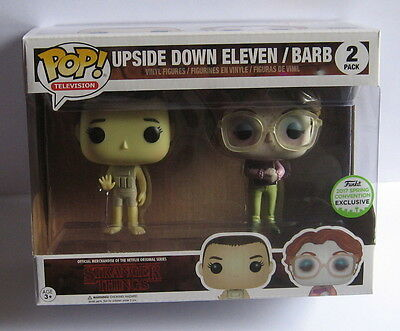 Stranger Things Upside Down Eleven & Barb Funko Pop Things - ECCC 2017 Exclusive
