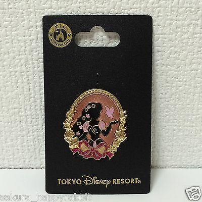 Princess Silhouette series Pin Rapunzel Pink ribbon Tokyo Disney Resort Japan