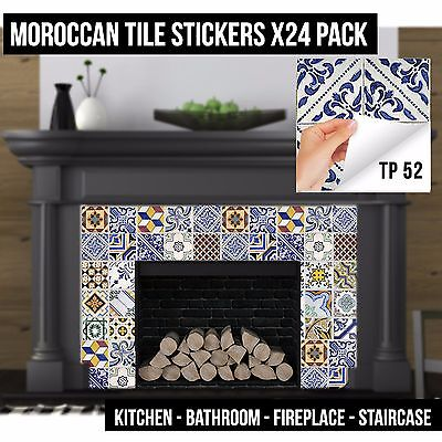 Multi Pack Traditional Tile Sticker Decal Self Adhesive Cover Up Transfers TP52