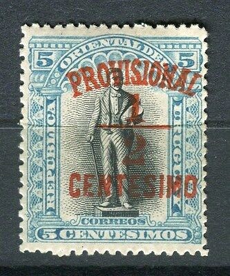 URUGUAY;  1898 early classic Provisional surcharge 1/2c. value Mint hinged