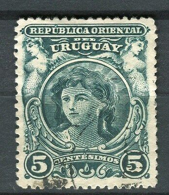 URUGUAY;  1901 early pictorial issue fine used 5c. value