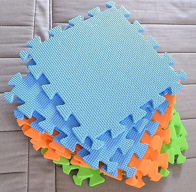 Knitter's Pride BLOCKING MATS - 9 Interlocking Foam Squares, New in Carry Case
