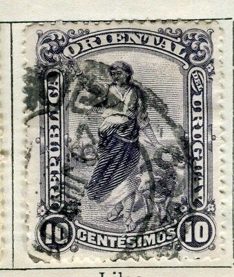 URUGUAY;  1901 early pictorial issue fine used  10c. value