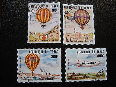 TCHAD - timbre yvert et tellier aerien n° 247 a 250 obl (A04) stamp chad
