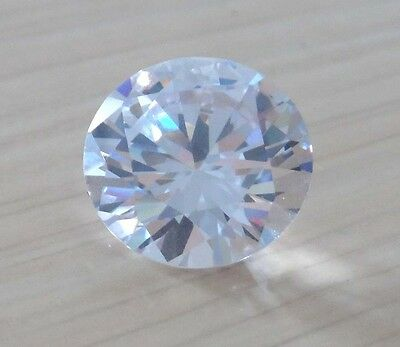 Wholesale! AAAAA Dazzling White Sapphire Round Faceted Cut VVS Loose Gemstone