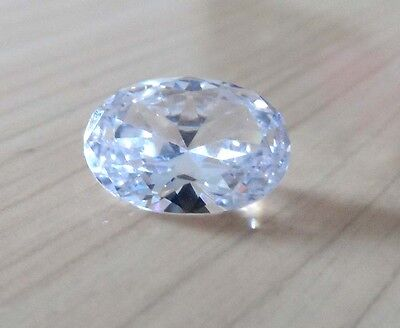 Wholesale! AAAAA Dazzling White Sapphire Oval Faceted Cut VVS Loose Gemstone