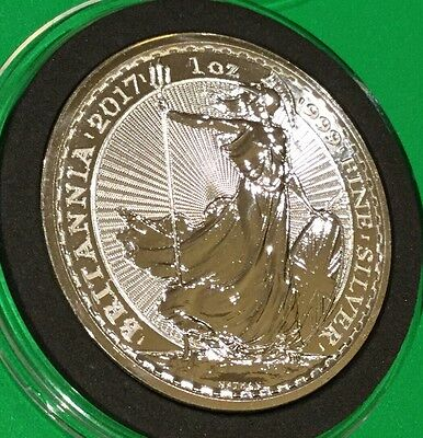 2017 Britannia UK 2£ Coin 1 Troy Oz .999 Fine Silver Collectible Round Medal 999
