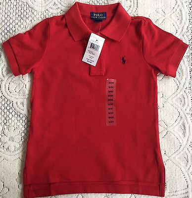 New Ralph Lauren Boys  Red Polo-shirt L14-16Y