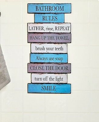 House Rules Wooden Wall Art 17 Kitchen Bathroom Playroom Family Rules 2 Live By