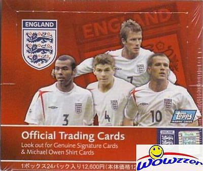 Topps England EXCLUSIVE Factory Sealed Soccer Box from Japan-DAVID BECKHAM $150