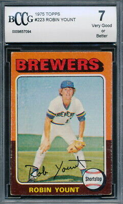 1975 Topps #223 Robin Yount Rookie Card Graded BCCG 7