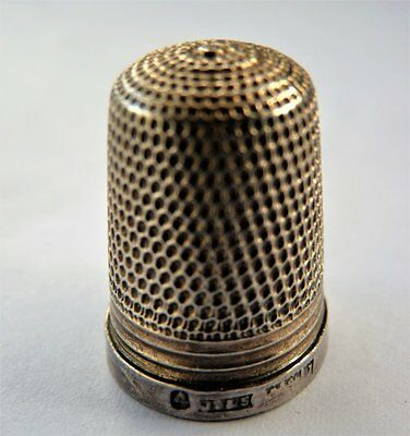 Antique Vintage Hallmarked Silver Thimble * Sewing Embroidery Craft Needlework