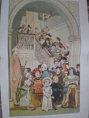 A Christmas Costume Party Supper Time 1879 colour print by Charles Green