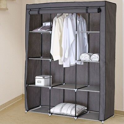 Fold Clothing Wardrobe Children's Room Shelf Rack Fleece Fabric Jam Fan