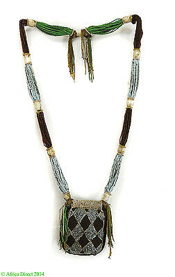 Yoruba Beaded Necklace Odigba Ifa Nigeria African Art SALE WAS $690