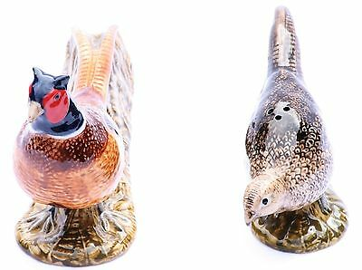 Pheasant Salt And pepper pots Shakers By Quail Pottery shooting gift