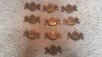 Lot of 10 vintage style drawer pull handles