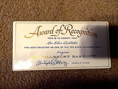 Vintage 1961 Pillsbury Bake-Off Tin Recognition Plaque