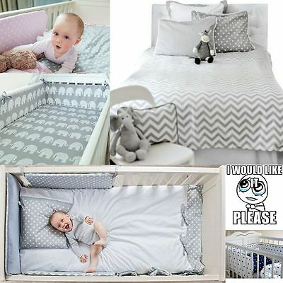 3 Pcs Baby Nursery Bedding Set GIRLS or BOYS Fit to COT BED 140x70cm 100% COTTON
