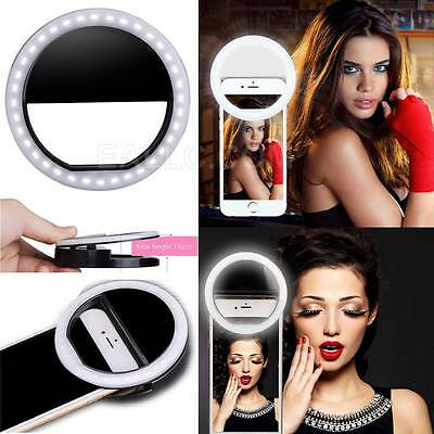 Selfie 36 LED Ring Flash Fill Light Clip Camera For Phone iPhone Samsung HTC