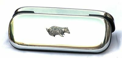 Badger Glasses Spectacle Case British Countryside Gift FREE ENGRAVING 016