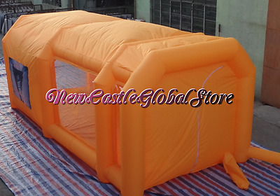 custom made giant 23ft x 16ft x 10ft portable cloth inflatable spray paint booth
