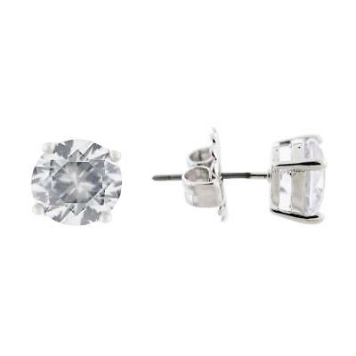 CZ by Kenneth Jay Lane Womens Radiant Rounds Silver Post Earring 4 CTTW 5860
