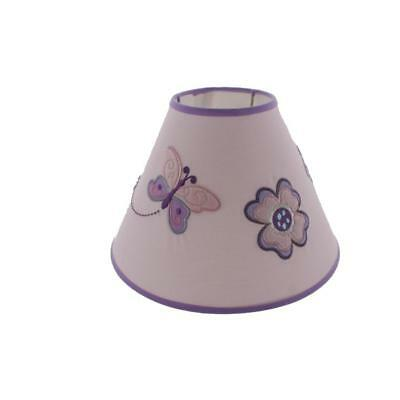 Koala Baby 4350 Purple Infants Butterfly Floral Nursery Lamp Shade O/S BHFO