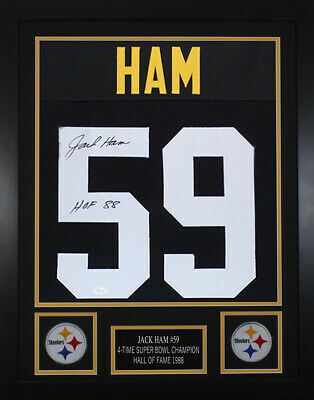 f39c01122d4 JEROME BETTIS AUTOGRAPHED and Framed Black Steelers Jersey Auto JSA ...