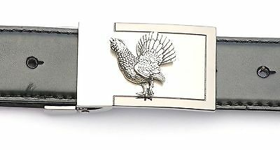 Capercallie Design Belt Buckle and Leather Belt in Gift Tin Ideal Wildlife Gift