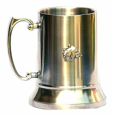 Jumping Frog Tankard 1 Pint Pewter Emblem Ideal Pub Gift For Nature Enthusiast