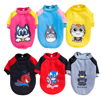 Cartoon Pet Dog Hoodie Costume Sweater Small Puppy Cat Clothes Coat Sweatshirt