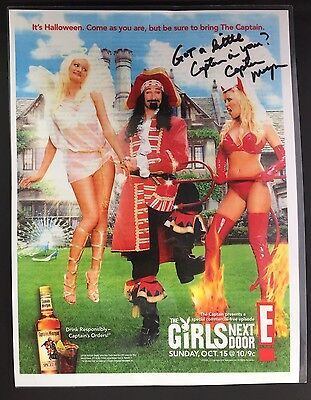 """Laminated E! Entertainment """"The Girls Next Store"""" / Captain Morgan Signed Poster"""