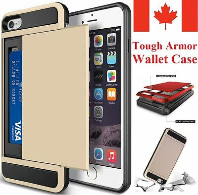 For Apple iPhone 6 6S 7 / 7 Plus Case - Hard Shockproof Tough Armor Wallet Cover