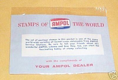 #d65. Unopened Packet Of Ampol Petroleum Stamps Of World