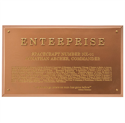 Eaglemoss STPLAQUE5 Star Trek USS Enterprise NX-01 Dedication Plaque