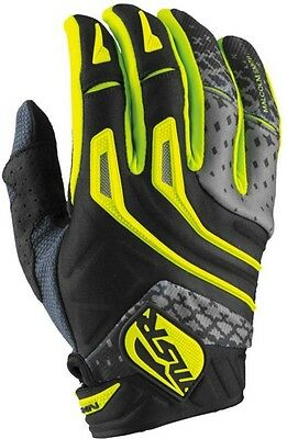 MSR Mens Adult NXT Gloves Offroad MX ATV Black/Grey/Green XL 361428
