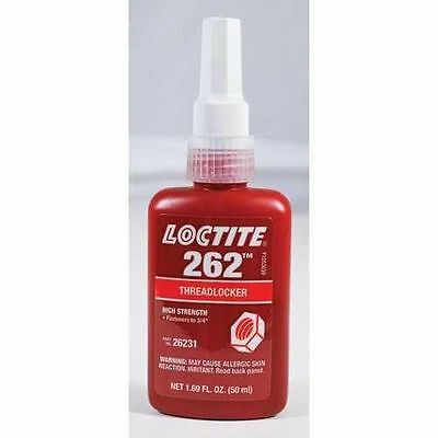 Loctite 262 Threadlocker High Strength P/n 26231 New 1.69 Fl Oz (50 Ml)