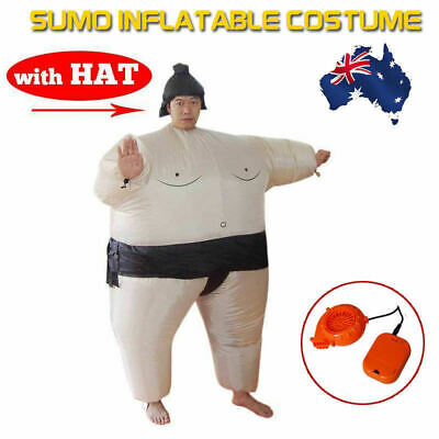 SUMO Fancy Dress Fan Inflatable Costume Suit Party with Hat Polyester AU POST