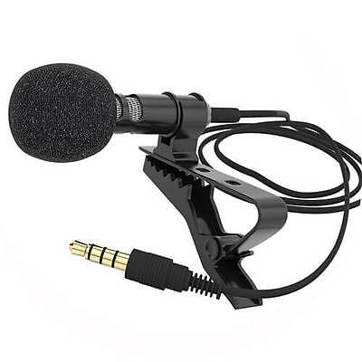 Small Clip-on Lapel Mini Mic Microphone For iPhone SmartPhone Recording PC US