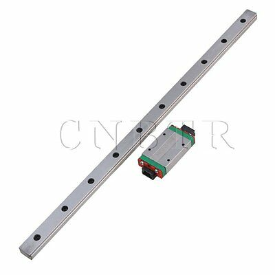 CNBTR 40CM MGN15 Extension Linear Guide Rail Sliding Rails+Block Set of 2 Silver