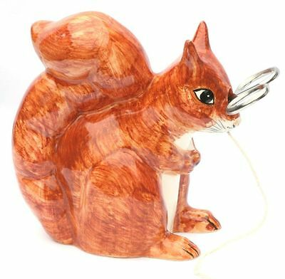 Red Squirrel Design Pottery String Holder by Babbacombe Pottery CLEARANCE