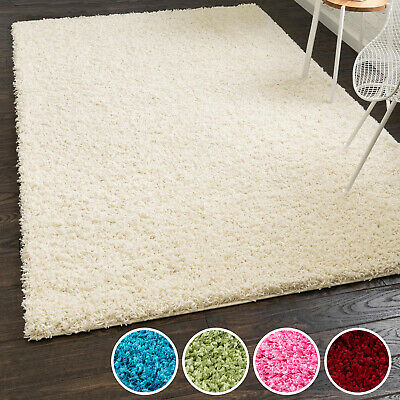 MODERN SHAGGY SMALL X EXTRA LARGE SOFT THICK 5cm HIGH PILE PLAIN NON-SHED RUGS