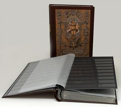 Stamp Collector's Album with 60 Black Refill Sheets Heritage Design