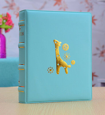 TWO-200 Pockets Slip In Leather Photo Album 5&6&7 Inches Photos-2Colors 3Sizes