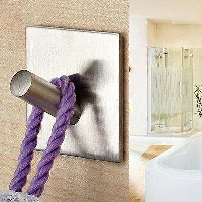 Stainless Steel Coat Robe Hat Clothes Towel Single Hook Wall Door Hanger Rack