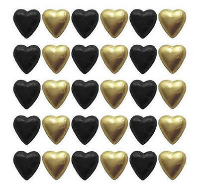 110 Cadbury Chocolate Black And Gold Hearts-Wedding Favours Parties Candy Buffet